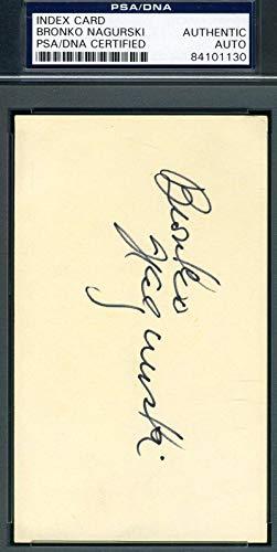 BRONKO NAGURSKI PSA DNA Cert Autograph 3x5 Index Card Hand Signed Authentic