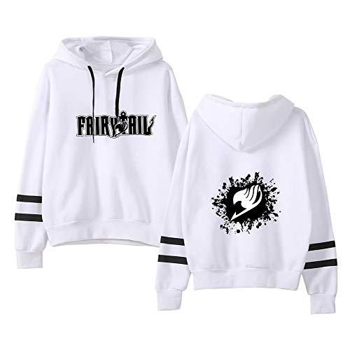 Fairy Garder Pull Manches Longues Au Unie Concis Aivosen Pull Couleur White02 over Femmes Tail Hoodies Hiver Unisex Chaud Hommes 4Ex70qwH