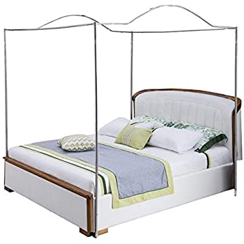 Amazon Com Mengersi Bedding Canopy Bed Frame Post White