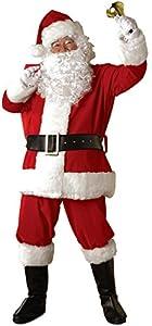 Rubie's Regal Plush Santa Suit,Red/White, X-Large