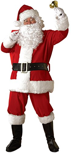 White Vinyl Gloves Costume (Rubie's Regal Plush Santa Suit,Red/White, X-Large)