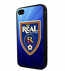 Soccer MLS REAL SALT LAKE SOCCER CLUB FOOTBALL FC Logo, Cool iPhone 4 / 4s Smartphone iphone Case Cover Collector iphone TPU Rubber Case Black