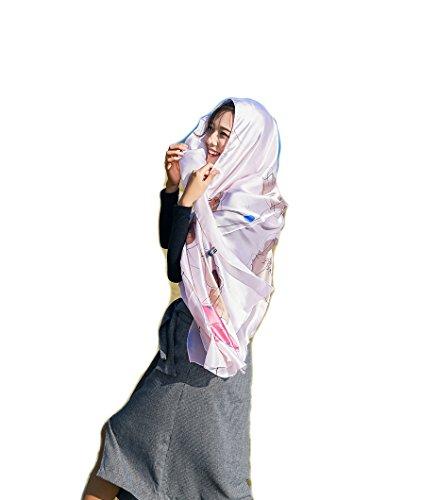 UV bagno Extra Stole Rosa Sciarpe Fiore ragazze amp; SiLK Copricostumi e Wrap Sarong Felix solare Scialli Donna Protezione Spiaggia Bambine Grande Pareo Costumi da wTA1gYq