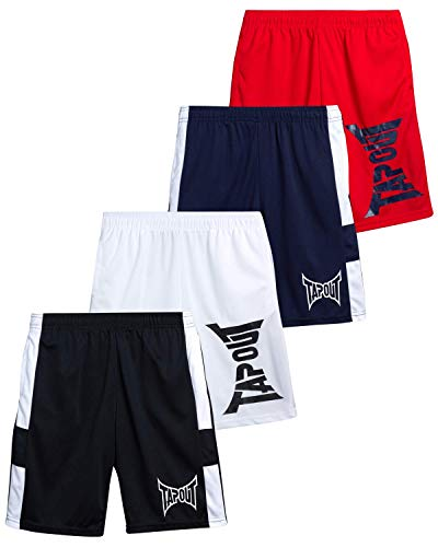 TAPOUT Boys' Athletic Shorts – Active Performance Basketball Shorts (4 Pack)