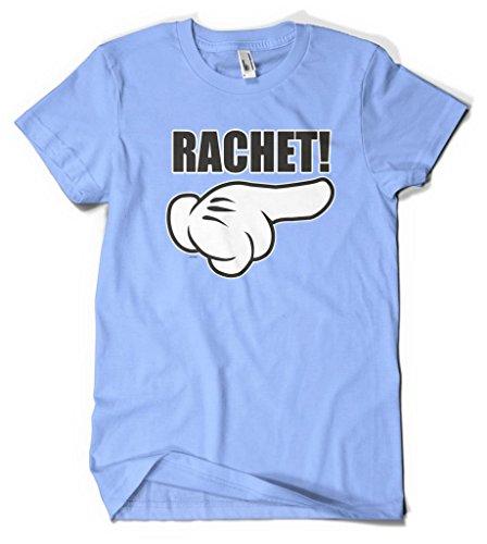 Cybertela Rachet Cartoon Gloves Men's T-shirt (Light Blue, Large)