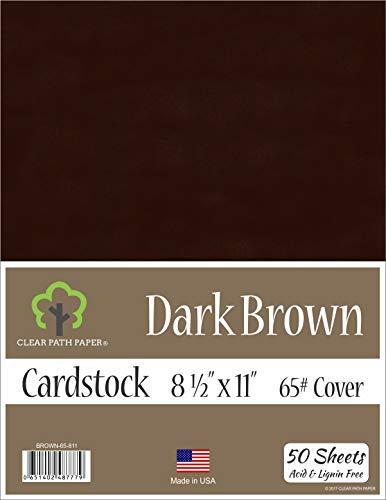 Dark Brown Cardstock - 8.5 x 11 inch - 65Lb Cover - 50 Sheets
