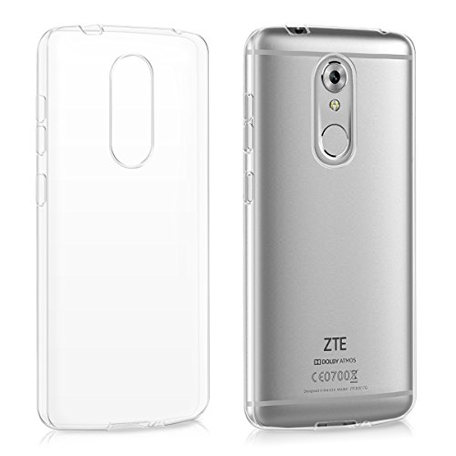 kwmobile Crystal Case for ZTE Axon 7 Mini - Soft Flexible TPU Silicone Protective Cover - Transparent