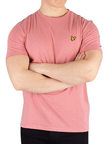(Lyle & Scott Men's Classic Crew-Neck T-Shirt, Pink Shadow Medium Pink Shadow)
