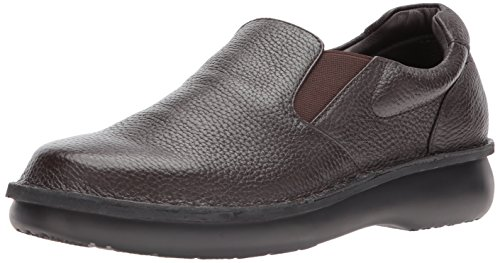 Propet Men's Galway Walker Slip-on,Dark Brown Grain,11 M