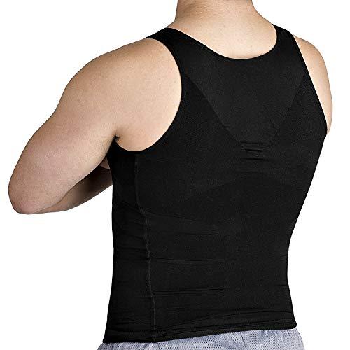 Roc Bodywear Mens Slimming Body Shaper Compression Shirt Slim Fit Undershirt Shapewear Mens Shirts Undershirts Black