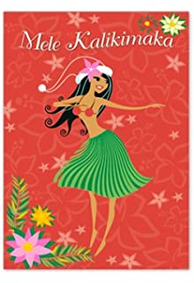 Amazon hawaiian happy birthday greeting card ukulele hauoli la boxed christmas cards mele k hula wahine m4hsunfo