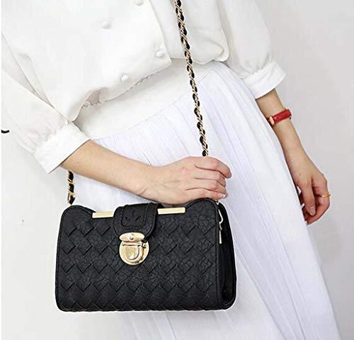 Versione Tide Borsa da Borsa donna moda rosa nero tracolla a coreana estiva con tracolla singola Borsa della selvaggia piccola borsa grxIg1