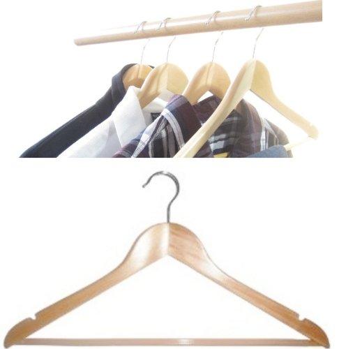 U201eHagspielu201c Kleiderbügel Aus Holz, 14 Stk. Mit Steg Und Rockkerben Mit  Gummiüberzogenem Steg, (besonders Rutschfest): Amazon.de: Alle Produkte