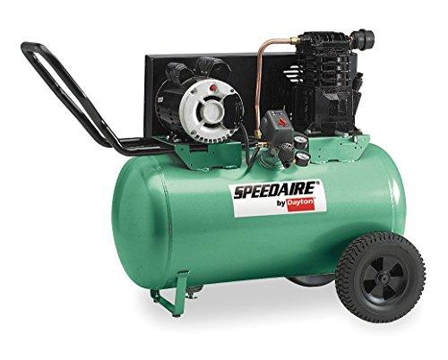 Speedaire 1NNF7 Air Compressor, 240 V, 3.2 HP, 20 Gal Tank