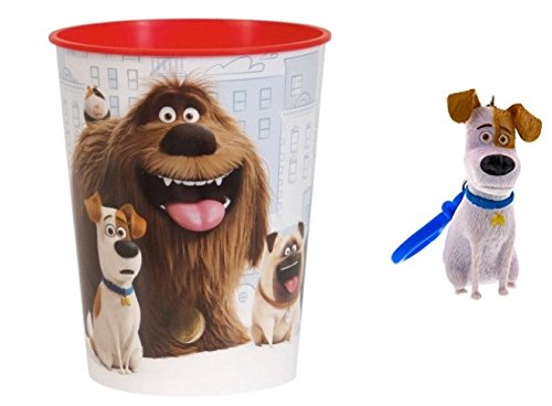 Kids Toddlers The Secret Life of Pets Max Chloe Duke Gidget Collectible Figures Action Figure Backpack Clip & Cup Set MAY VARY