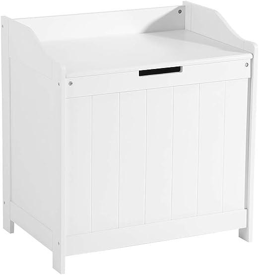 EBTOOLS Baúl con Tapa para Almacenaje Juguetes Ropa Libros Mueble Blanco para Salas de Juego y Dormitorio de Niños Caja Almacenamiento Juguete: Amazon.es: Hogar