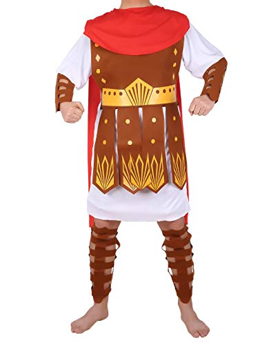 (HDE Men's Roman Gladiator Halloween Costume Adult Sized Spartan Hercules)