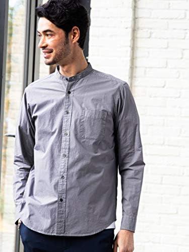 [グリーンレーベルリラクシング] CM G/D メンアサバンドカラー シャツ 32111492739 メンズ