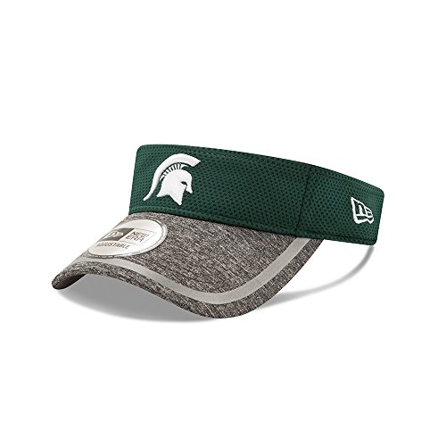New Era NCAA Michigan State Spartans Adult NE16 Training Visor, One Size, Dark Green by New Era