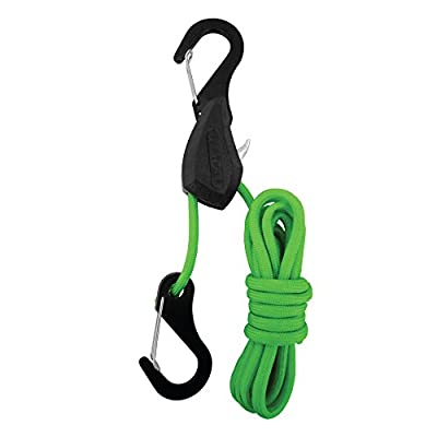 PROGRIP 056140 Better Than Bungee Rope Lock Tie Down with Snap Hooks: 6' Green Paracord (Pack of 1): Automotive