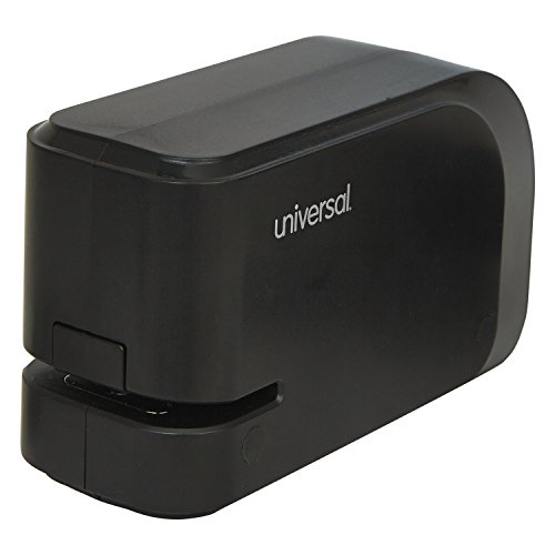 Universal Electric Half-Strip Stapler with Staple Channel Release, 20-Sheet Capacity, Black (43120)