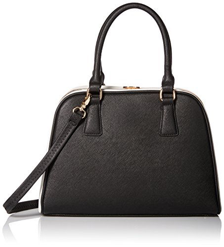 MG Collection Structured Doctor-Style Two-Tone Satchel Ba...