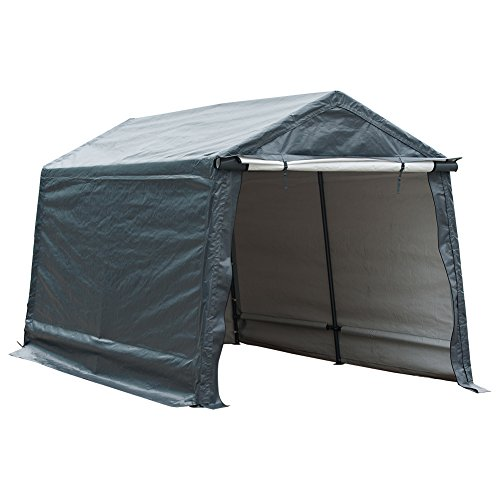 Abba Patio Storage Shelter 8 x 14- Feet Outdoor Carport Shed Heavy Duty Car Canopy, - Kennel Classic Portable