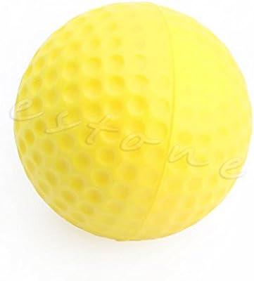 Manyo Pelota de golf de espuma suave amarilla 1,63 pulgadas ...