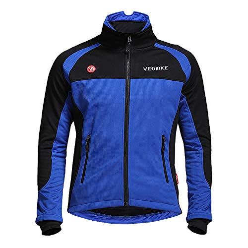 Epinki Otoño Invierno Hombre Ciclismo Camisa Azul para Al Aire Libre y Multi Deportes Sudadera Tamaño L