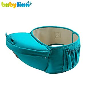 babylian(TM)Baby Hip Seat Support with Baby Carrier or Used Alone, Baby Waist Sea (blue)