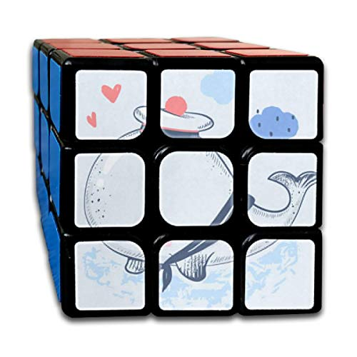 Cute Cartoon Whale Fabulous Speed Cube 3x3 Smooth Magic Cube Puzzle Game Black]()