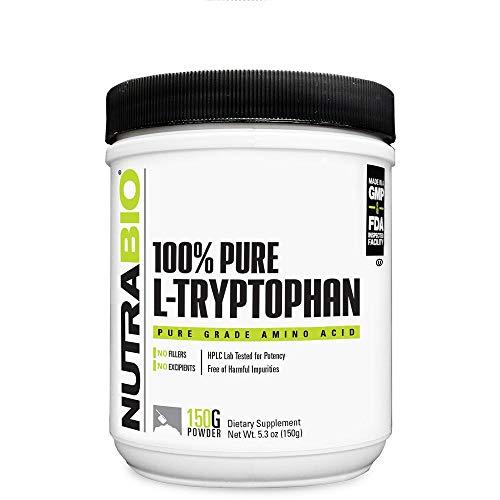 NutraBio L-Tryptophan Powder Supplement (150 Grams)