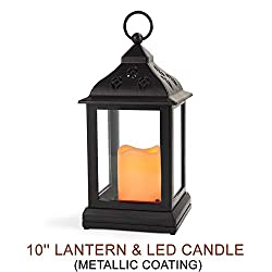 "Bright Zeal 9"" Vintage Candle Lantern with LE"