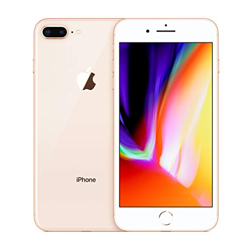 Apple iPhone 8 Plus, 64GB, Gold – For AT&T (Renewed)