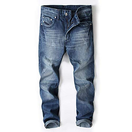 Da Bassa In Denim Slim Blu Uomo Vita Fit Larghi Strappati Giovane Pantaloni Jeans Eleganti A Dritto zaE18I1n