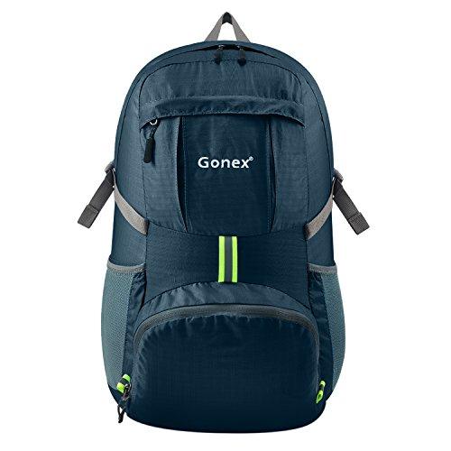 Gonex 35L Lightweight Packable Backpack Handy Foldable Shoulder Bag Daypack (Navy Blue) (Best 35 Liter Backpack)