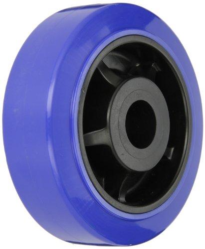 Shepherd-618764-PrismDiamond-6-Diameter-x-2-Width-Urethane-on-Poly-Wheel-900-lbs-Capacity-Blue-on-Black