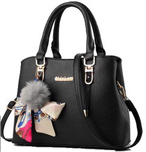 AgooLar Nero Style GMMBA181746 Festa Donna Shopping tracolla Viola scuro a Borse Dacron Tote FZqxrwF
