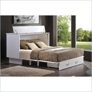 arason enterprises credenzzz queen cabinet bed in cottage white