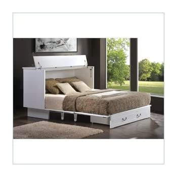 cubby c products pbteen set cabinet bookcase platform bed ultimate