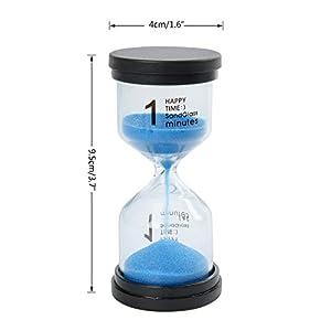 Funhoo 5 Colores Reloj de Arena de 1Min/ 3Mins / 5Mins / 10Mins / 15Mins, Temporizador para Limpiar los Dientes para Niño, Juego en el Aula y Mesa, Ejercicio de Gimnasio, Decoración para Hogar 2