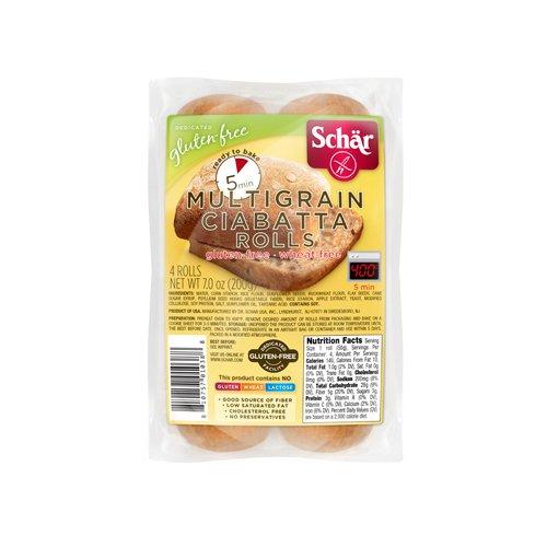 Schar Gluten Free Multigrain Ciabatta Parbaked Rolls - 7 oz (Pack of 6)