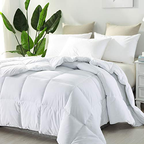 - Dreamland Bedding Luxury Collection Hotel Style Allergy Free Super Soft Microfiber Overfilled White Goose Down Alternative Comforter, Duvet Insert with Corner tabs King Size