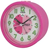 LORUS LHE034P - Reloj despertador analógico profesor de la hora en inglés - rosa