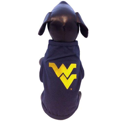 NCAA West Virginia Mountaineers Cotton Lycra Dog Tank Top (Navy), XX-Large