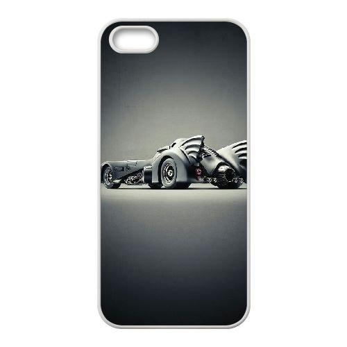 Batman Batmobile coque iPhone 5 5S Housse Blanc téléphone portable couverture de cas coque EBDOBCKCO09543