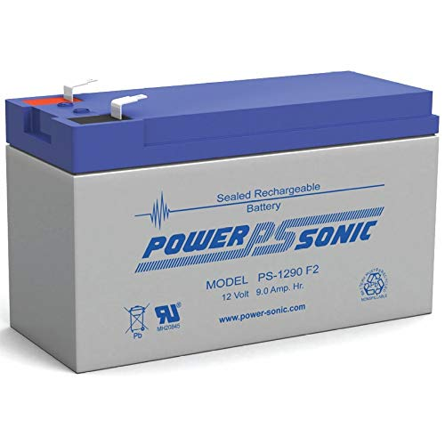 Power-Sonic PS-1290 12 Volt 9 Amp Hour Rechargeable SLA Battery (F2 Terminals) ()