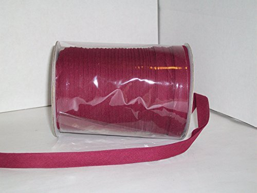 Burgundy/Wine Double Fold Bias Tape 50 Yds. 1/2 Inch by MJ's Crafts & More