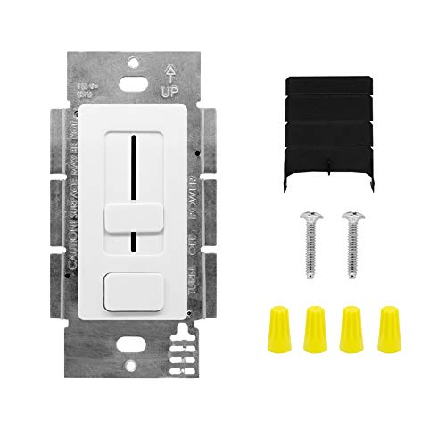 HitLights LED Driver and Dimmer Switch Single Integrated Unit, Switchex 120V AC – 12 V DC 40Watt Wall Dimmer Switch Compatible with Most Solid Color 12V and 24VDC Tape Lights and Fixtures, UL Listed