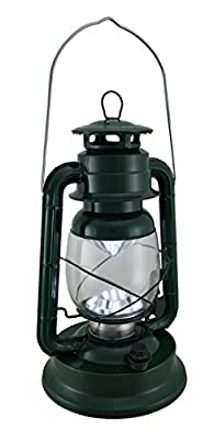 Metal & Glass Outdoor Tabletop Lanterns 97290 Vintage Style Glass And Metal 21 Led Dimmable Hurricane Lantern 14 In.